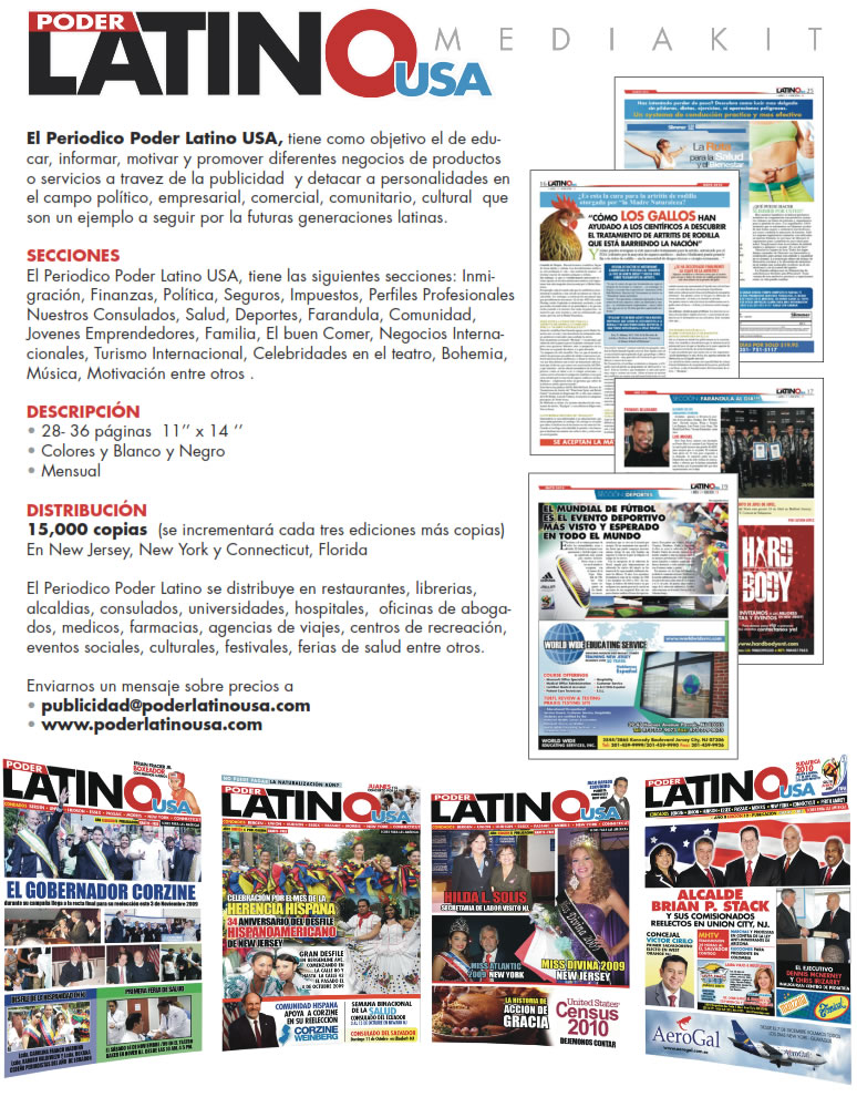 Poder Latino USA Media Kit
